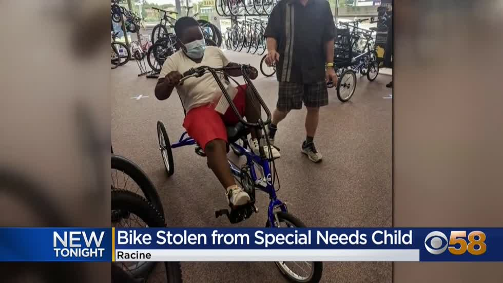 'Give me my bike back:' 10-year-old boy with disabilities...